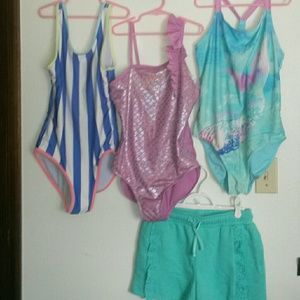 Other - Girls XL 14/16 swim set of 4 pieces!
